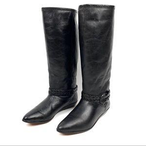 VTG 90's UNISA black leather equestrian boots